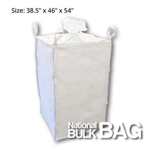 38.5 x 46 x 54 8-Panel Duffle Top Spout Bottom FIBC Bulk Bag with Baffles (closed)