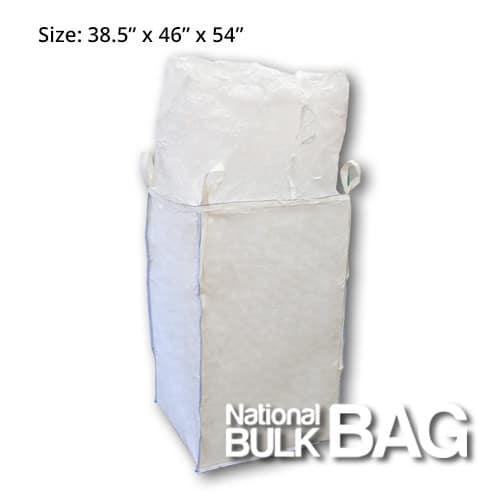 38.5 x 46 x 54 8-Panel Duffle Top Spout Bottom FIBC Bulk Bag with Baffles (open)