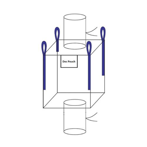 Spout Top, Spout Bottom w/ Lift Loops FIBC Bulk Bag - National Bulk Bag