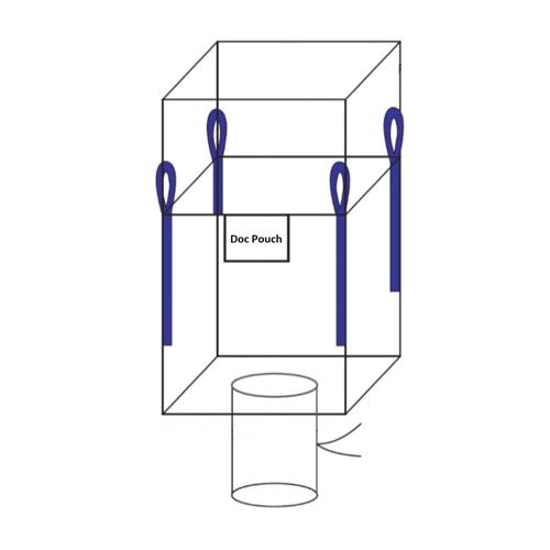 Corner Loop U+2 Panel Duffle Top Spout Bottom FIBC Bulk Bag (diagram)