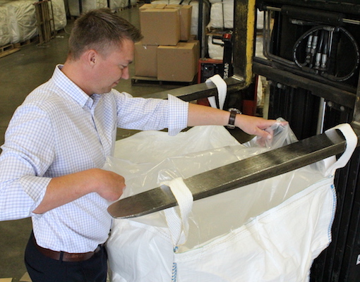 Zach Johnson looking evaluating FIBC Liners for National Bulk Bag